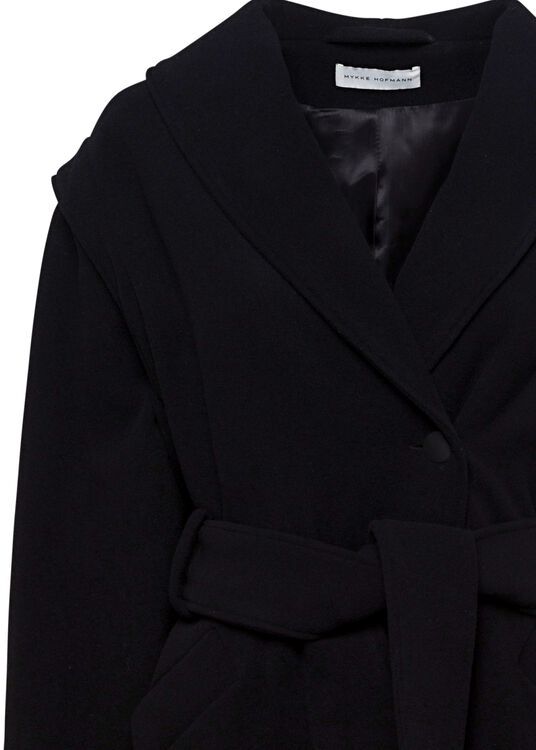 OVERSIZED COAT WITH LAPEL AND BELT image number 2