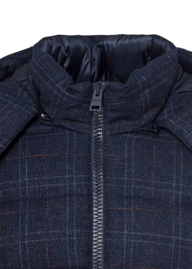 Men's Woven Half Coat, Blau, large image number 2