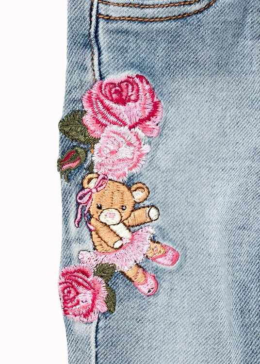 Teddy Patched Jeans, Blau, large image number 2