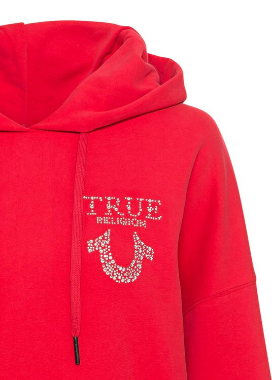 HOODY OVERSIZED RED image number 2