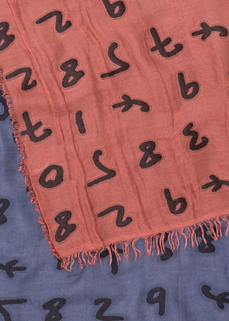 MEN SCARF NUMBERS, Mehrfarbig, large image number 1