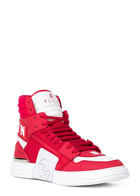 PHANTOM KICK$ Hi-Top Sneakers mix materials image number 1