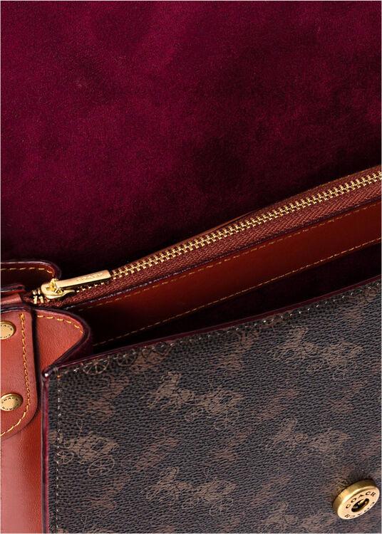 signature carriage coated canvas beat shoulder bag image number 3