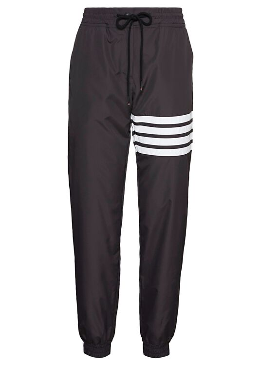 TRACK PANTS W/ 4 BAR IN FLYWEIGHT TECH, Schwarz, large image number 0