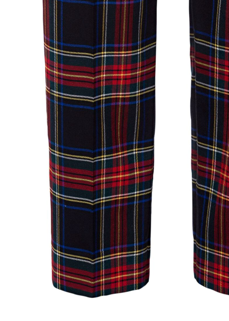 STRETCH TARTAN CARROT PANTS, Rot, large image number 2