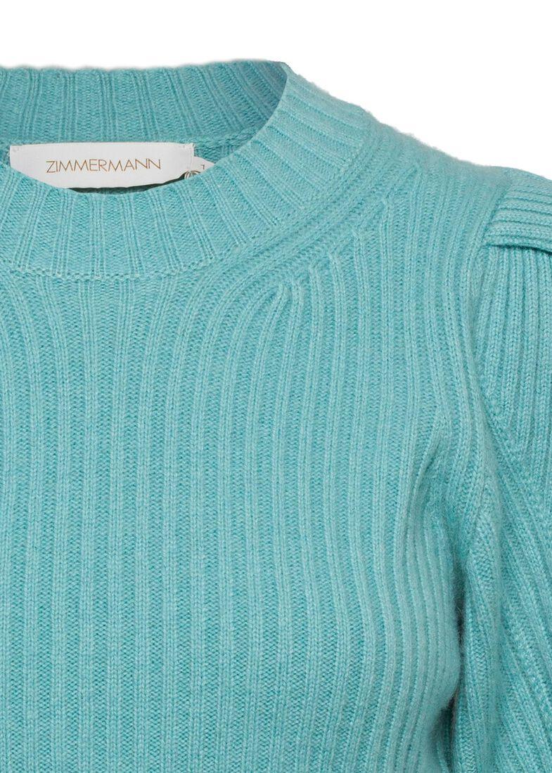 Ladybeetle Draped Sweater, Blau, large image number 2