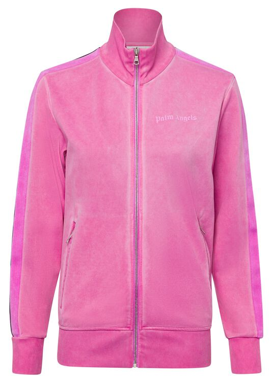 GARMENT DYED TRACK JACKET, Pink, large image number 0
