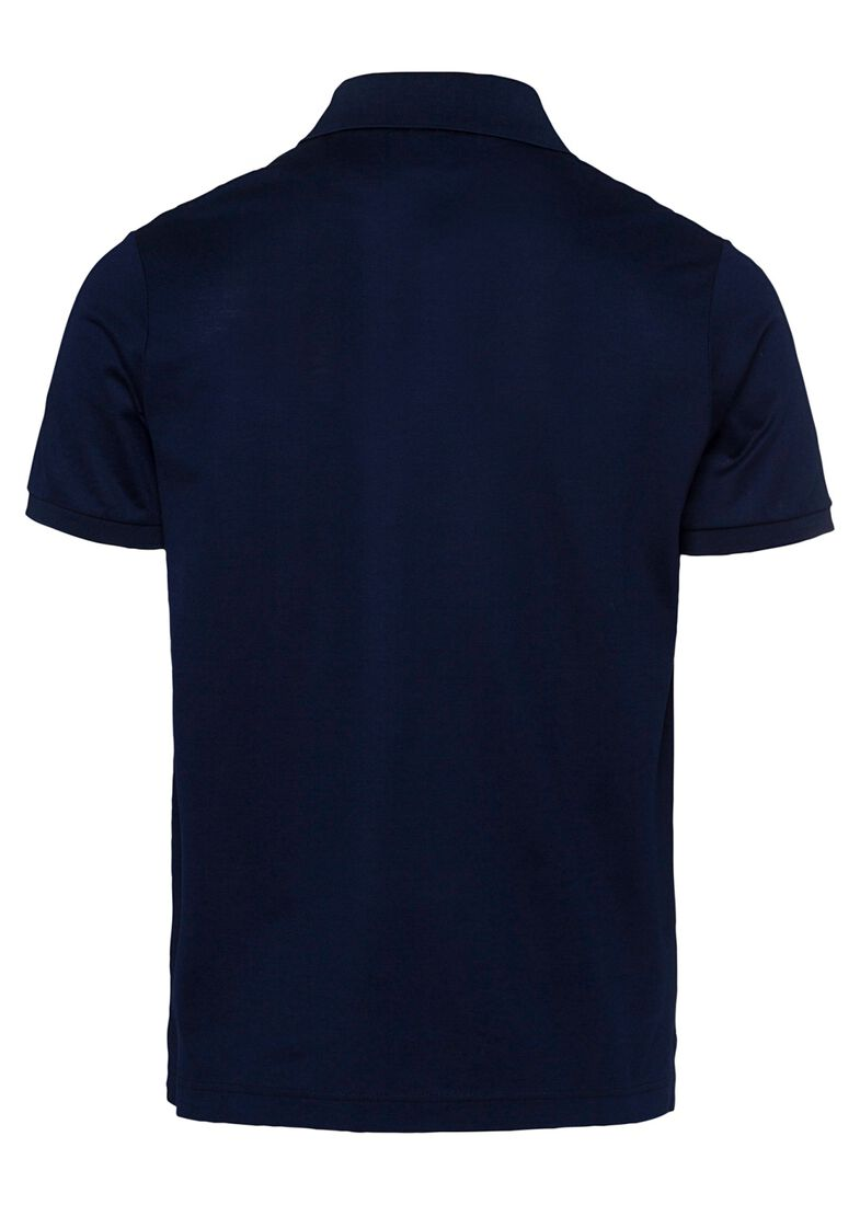 MEN'S KNITTED POLO SHIRT C.W. COTTON, Blau, large image number 1
