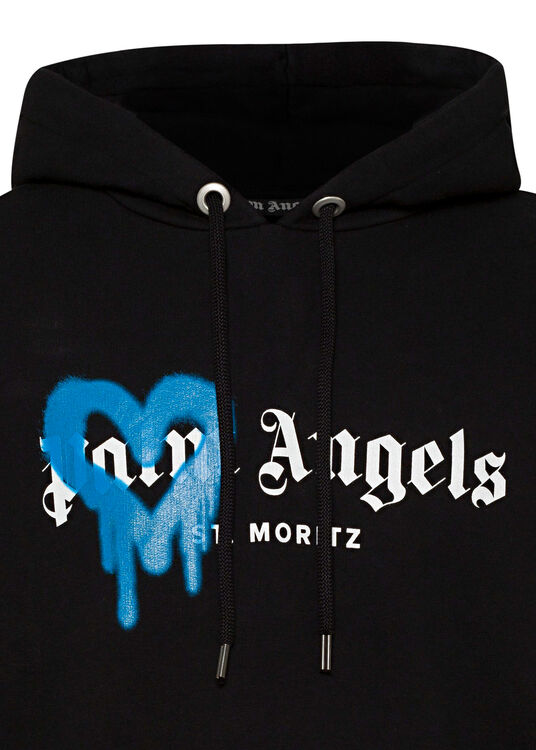 ST MORITZ HEART SPRAYED HOODY image number 2