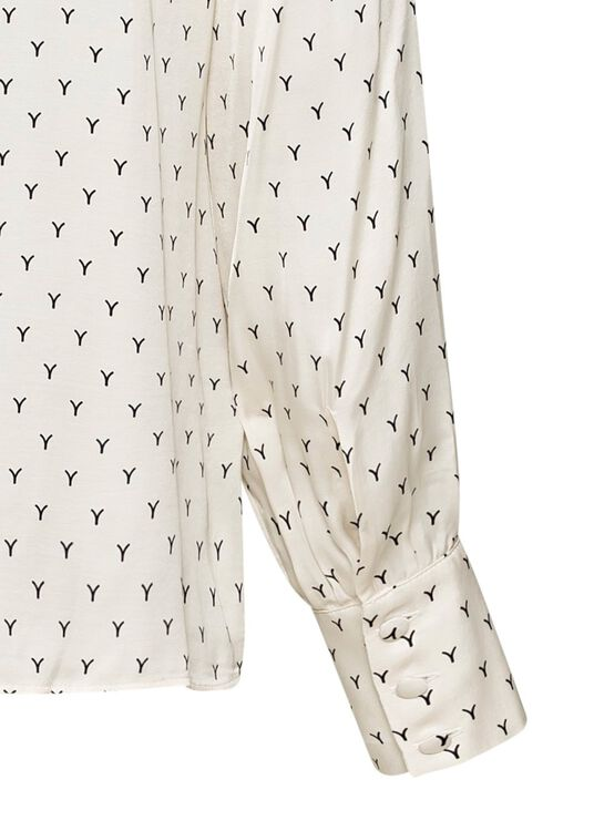 BLOUSE WITH BOW AND VOLUME SLEEVES image number 3