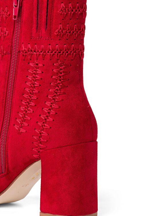 6_Stitching Bootie GRATEFUL Suede, Rot, large image number 3