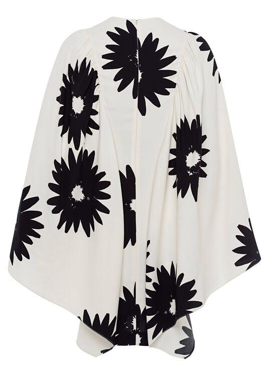 Luciana Dress Linda Floral Sable Envers Satin Print image number 1