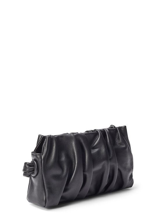 LARGE DIMPLE LEATHER PATENT BLACK OS image number 1