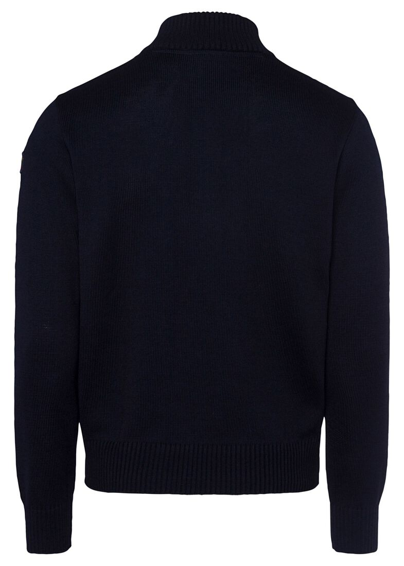MEN'S KNITTED SWEATER C.W.WOOL, Blau, large image number 1