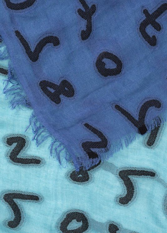 MEN SCARF NUMBERS, Blau, large image number 1