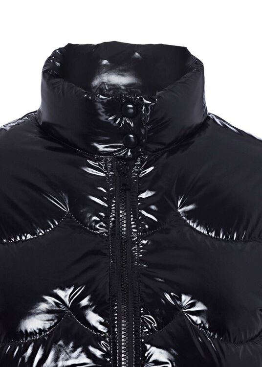 DOWN COAT NYLON LAQUE', Schwarz, large image number 2