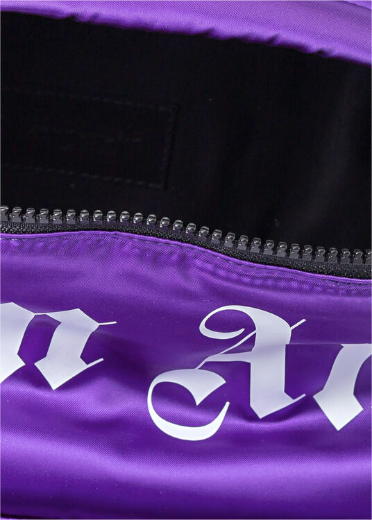 CURVED LOGO BACKPACK  PURPLE  WHITE image number 3