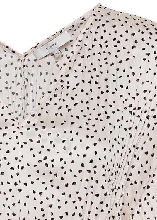 STONE DOT S/S V-NECK DRESS image number 2