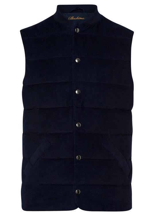 Quilt Baseb Cord Vest image number 0
