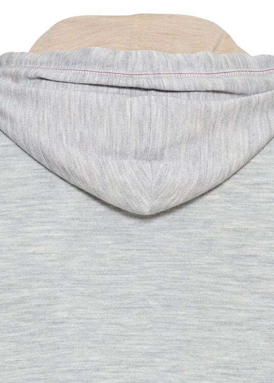 Zip Hoodie Wool Cash Lightweight contrast stitch image number 3