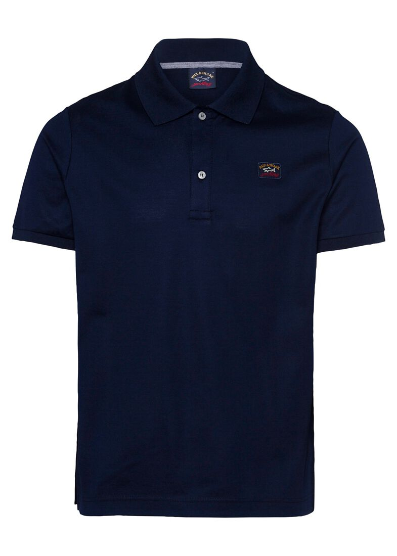 MEN'S KNITTED POLO SHIRT C.W. COTTON, Blau, large image number 0