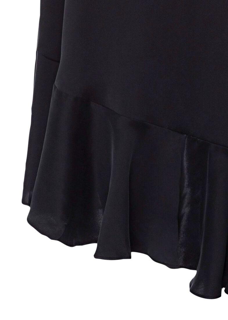 Silk Wrap Midi Dress, Schwarz, large image number 3