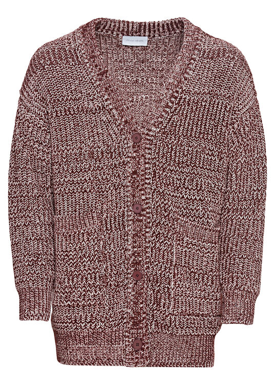 OVERSIZED MOULINE CARDIGAN WITH BUTTON CLOSURE image number 0