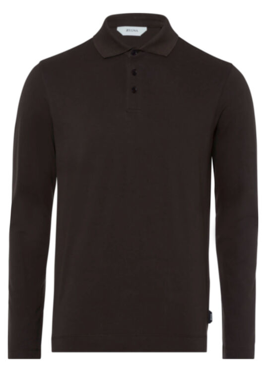 COTTON PIQUET STRETCH POLO image number 0