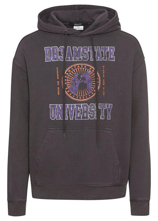 university biggie hoodie faded black image number 0