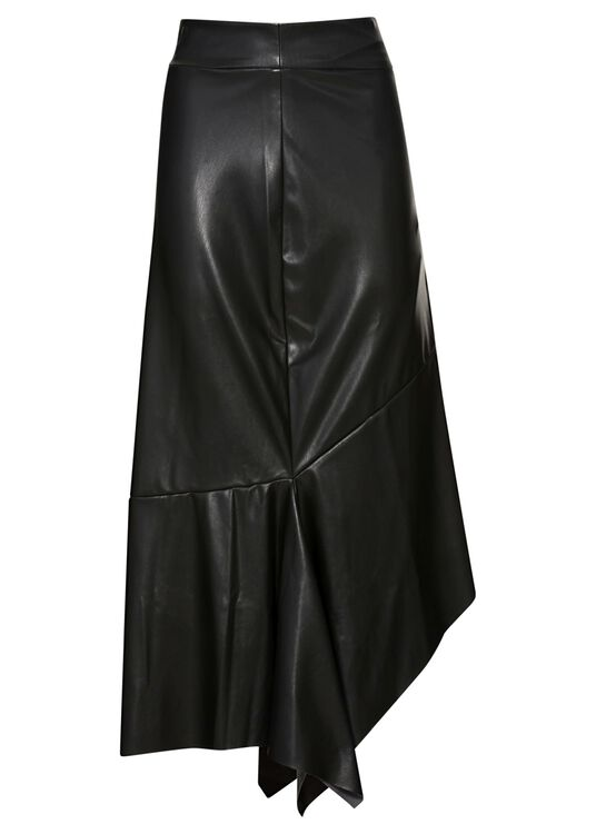 HIGH WAIST SKIRT WITH VOLANTS, Schwarz, large image number 0