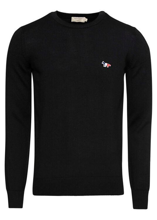 R-NECK PULLOVER TRICOLOR FOX PATCH image number 0