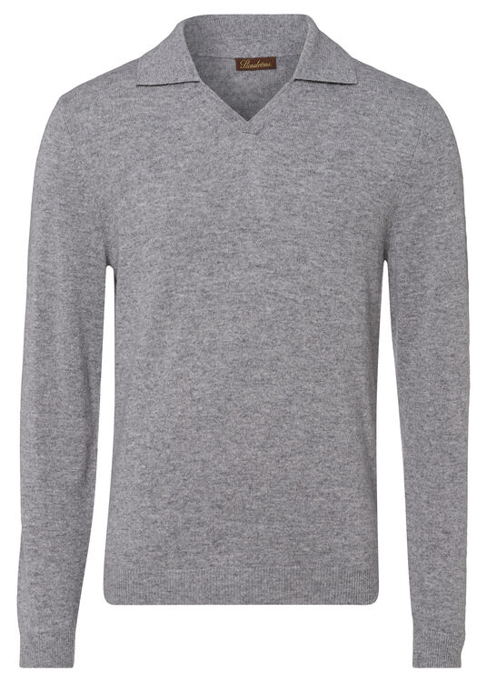 Cashmere Polo Shirt LS image number 0
