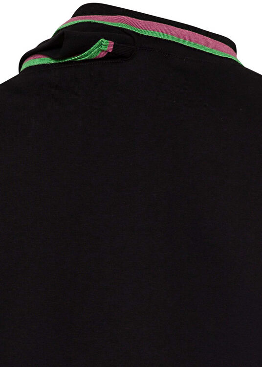 THREE NECK LONG SLEEVE POLO image number 3