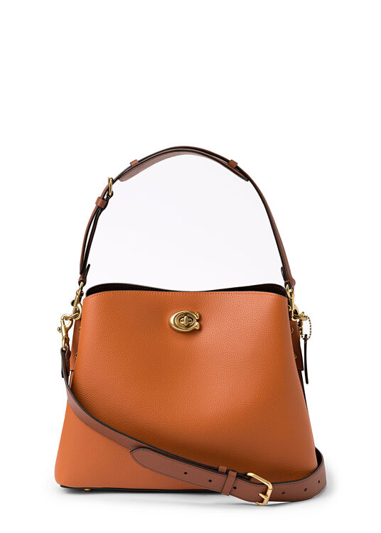 colorblock leather willow shoulder bag image number 0