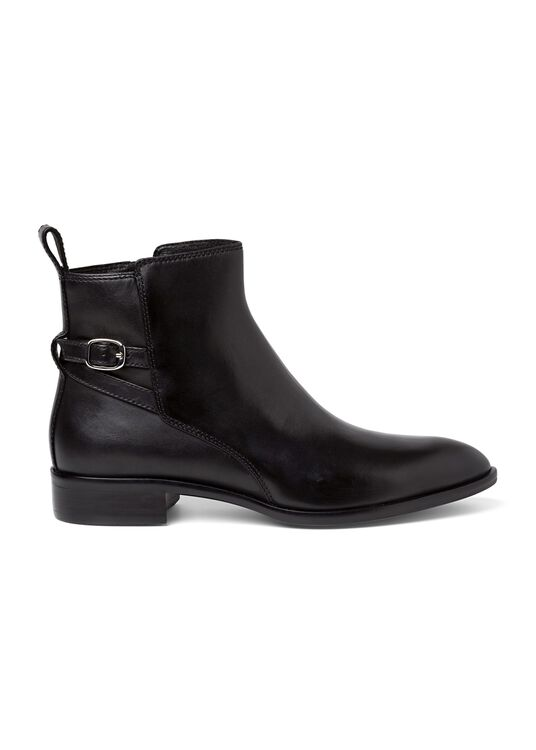 8_Victor Flat Ankle Boot Buckle Calf, , large image number 0