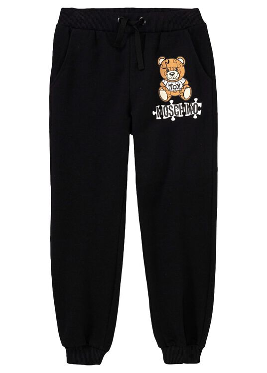 Teddy Puzzle Sweat Pants, Schwarz, large image number 0