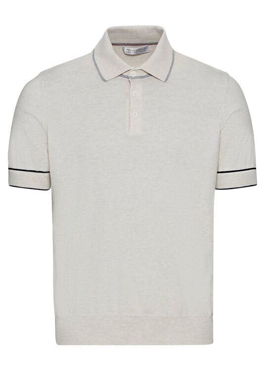 Short Sleeve knitted Polo superlight cotton image number 0
