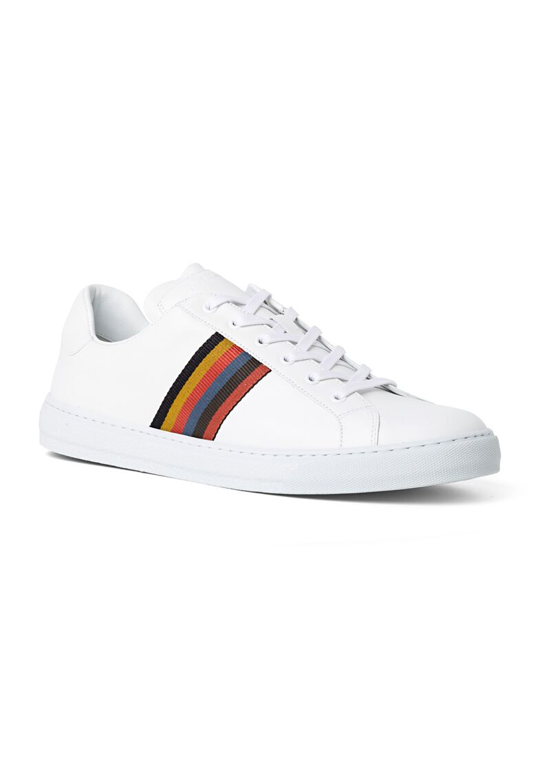 MENS SHOE HANSEN WHITE ARTIST STRIPE, Weiß, large image number 1