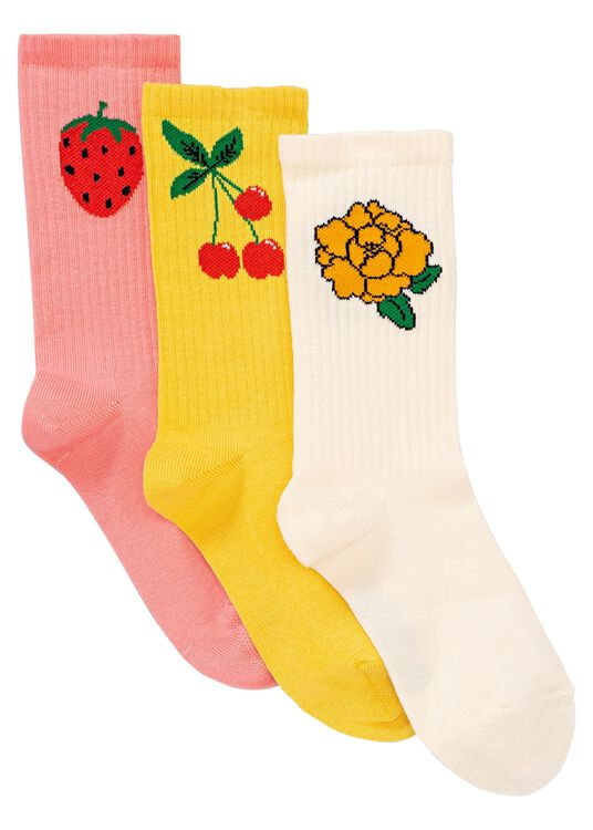 Cherry and co 3 pack socks image number 0
