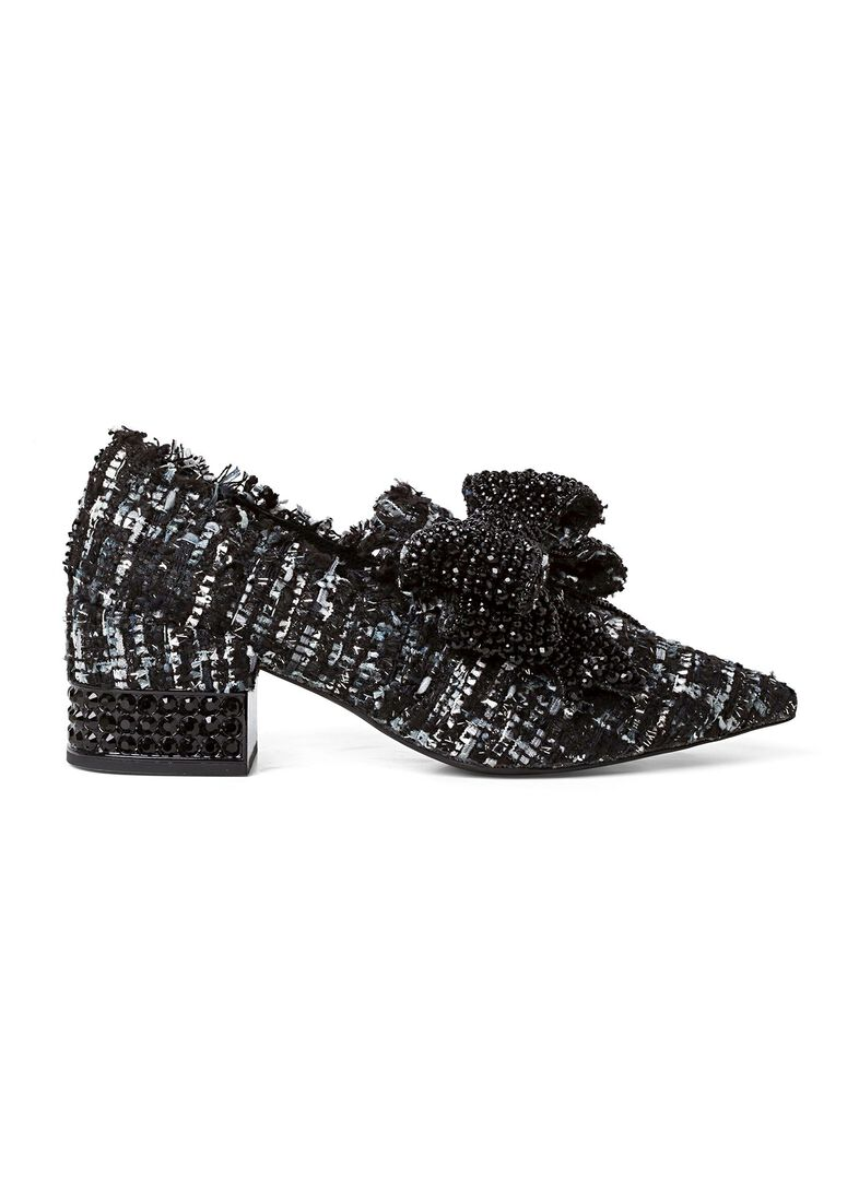 5_Pump Bootie VALENSIA-JH Bow Crystals, Schwarz, large image number 0