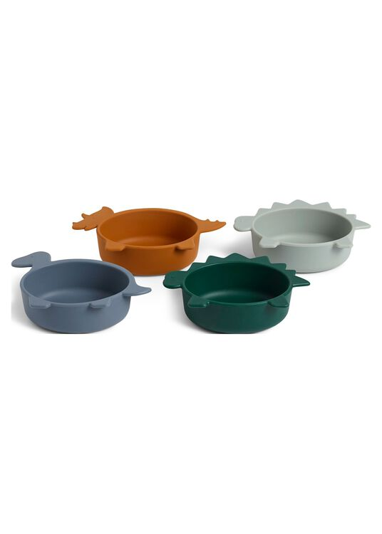 Iggy silicone bowls - 4 pack, Mehrfarbig, large image number 0