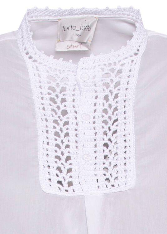 crochet plastron shirt image number 2
