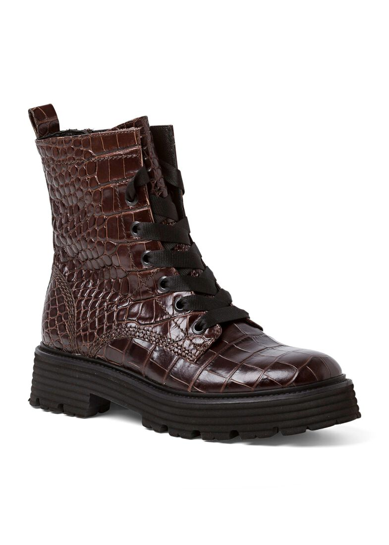 31_Power Lace Boot Croc Calf, Braun, large image number 1