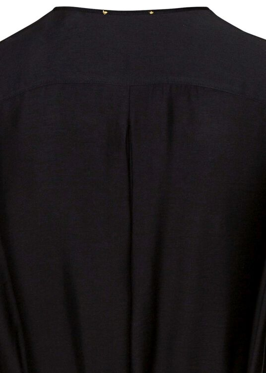chic twill crossed dress image number 3