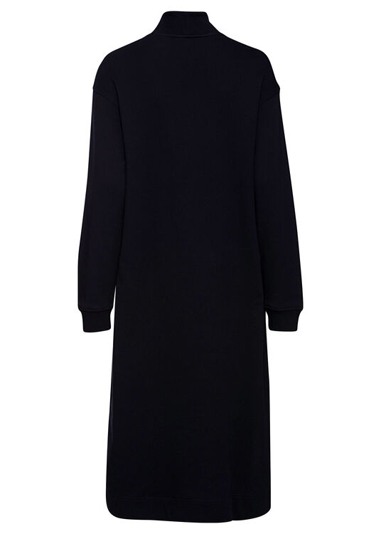 RELAXED HALF-ZIP MIDI DRESS LS image number 1