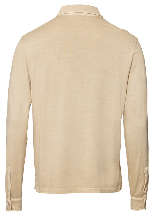 Washed Polo LS image number 1