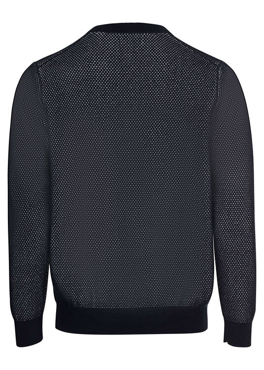 TWO TONE TEXTURE C-NECK image number 1