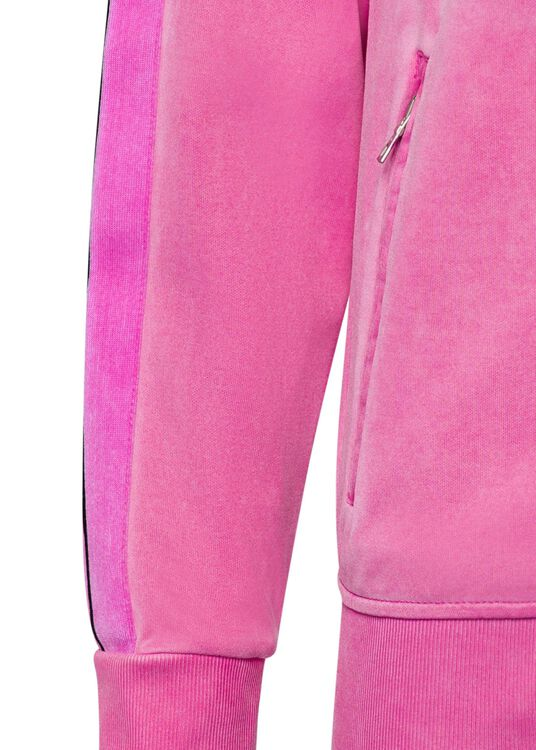 GARMENT DYED TRACK JACKET, Pink, large image number 2