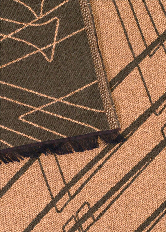 ZZEGNA ZZ ALL OVER LOGO WOOL AND MODAL SCARF image number 1