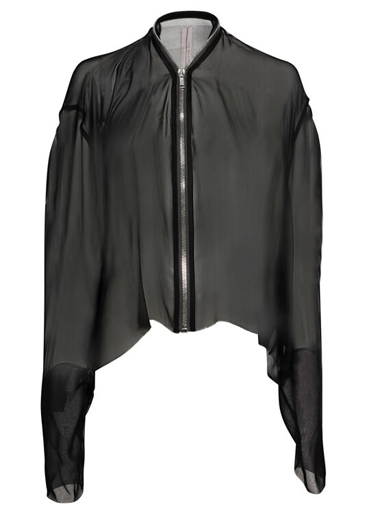 SHORT ZIPPED CAPE image number 0